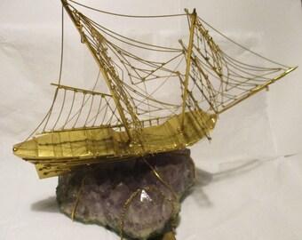 Galleon in COPPER gold plated - Falcon