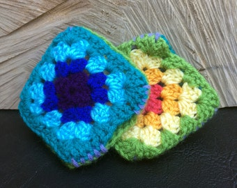 Crochet Granny Square Gloves