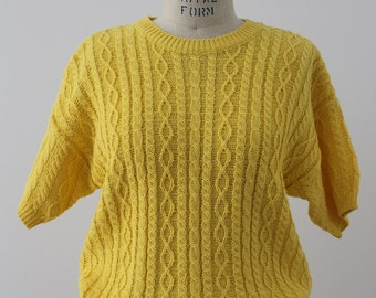 Canary yellow vintage knit