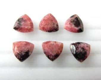 Natural Rhdonite Trillion Loose Gemstone Cut Stone. 6Pc- Rhodonite Loose Gemstone,Rhodonite Trillion Cut Loose Gemstone Cut Stone Lot,Loose