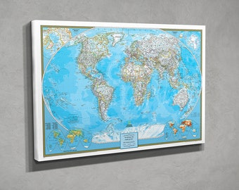 Personalized travel pin maps to track lifes by pushpintravelmaps gallery wrapped personalized classic world gumiabroncs Images