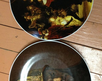 Bareuther waldsassen Bavaria Germany collectible plates with Rembrandt paintings
