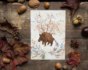 The Earth Boar - postcard