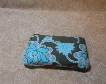 Teal Floral Purse Tissue Cover