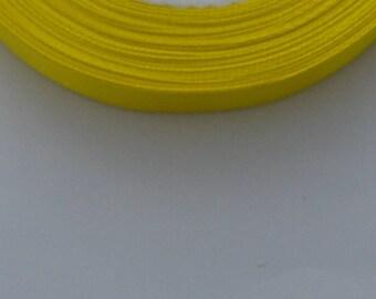 5 m width 12mm yellow satin ribbon