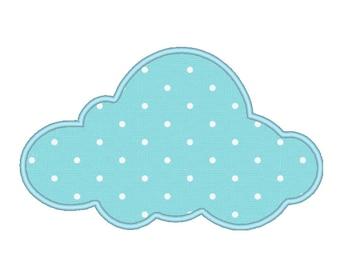 Cloud Shaped Applique Embroidery Machine Design