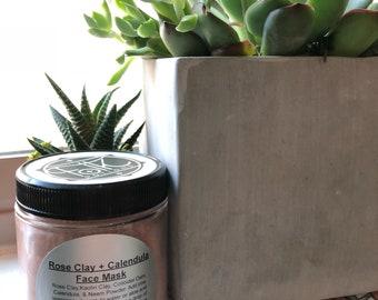 Rose clay + calendula facial mask