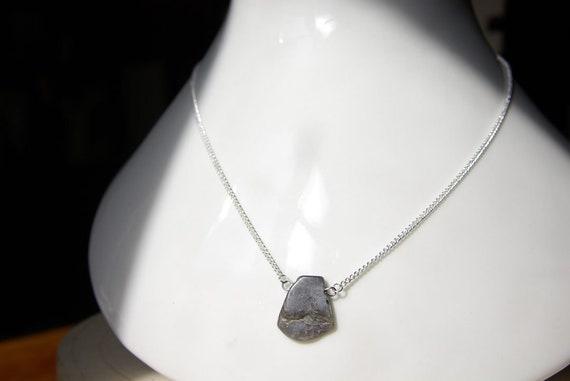 Labradorite Bar necklace, Silver 925 necklace, bar Gemstone, birthstone jewelry Minimalist, Heart Chakra, Protection Stone, Zodiac Necklace