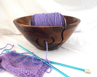 Extra Large Wooden Yarn Bowl