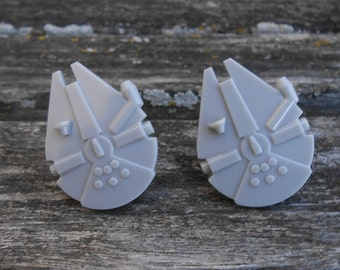 Millennium Falcon Cufflinks. Gift For Groom, Groomsmen, Dad, Birthday, Anniversary, Birthday, Father's Day.