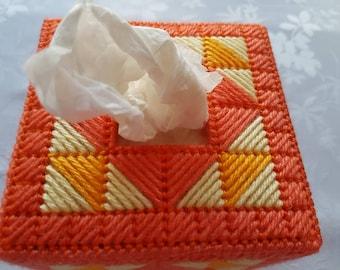 Orange handkerchief box