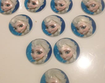 Set of 10 20 mm for professional Elsa cabochons