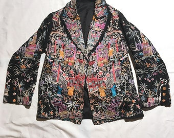 RARE 20's / 30's  Chinese Embroidered Silk Jacket