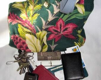 Vintage 50s Floral Totebag or Purse