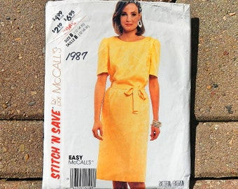 Vintage McCall's Stitch 'N Save Easy Dress Pattern 2968 Size 12