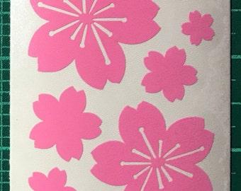 Cherry blossoms/Sakura vinyl decal sheet