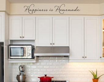 Happiness is Homemade Wall Decal - Kitchen Decal - Kitchen Decor - One line version