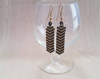 Chevron Peyote Earrings - Statement Earrings - Beaded Earrings - Drop Earrings - Fashion Earrings - Peyote Beaded Earrings - Earrings