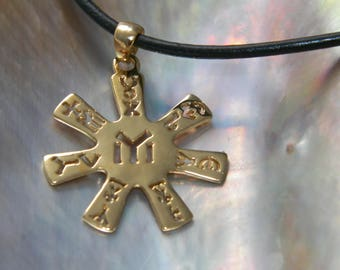 Handcrafted 18K Gold Plated 1 micron Thickness Over.925 Sterling Silver Rosette From Pliska IYI Tangra Dullo