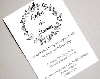 Invitations, Wedding Invitations, Wedding Invites, Wedding Stationery, Floral Wedding, Rustic Wedding, Elegant Wedding, Modern Wedding