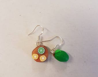 Fimo - Lemon & Lime - Cake - Earrings