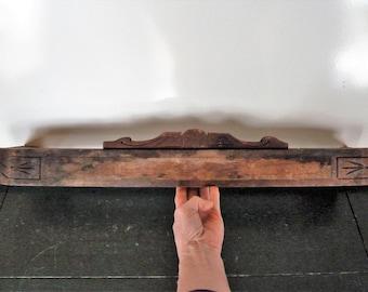 Vintage Carved Wood Pediment Furniture Architectural Salvage Scrolled Trim