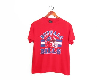 vintage t shirt / Buffalo Bills shirt / 80s sportswear / 1980s thin red Buffalo Bills NFL football t shirt Small