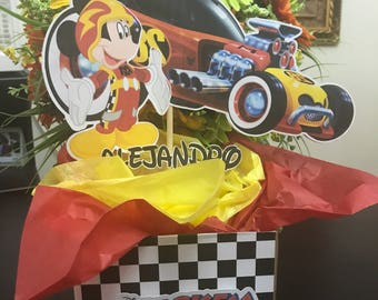Mickey Mouse Centerpieces -Mickey Mouse and the roadters  racers-Mickey Mouse Birthday -race party