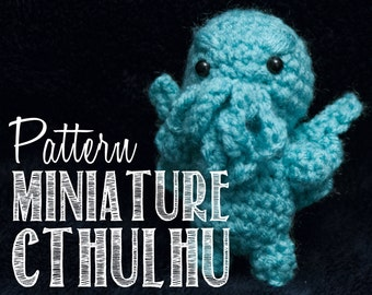 Easy Miniature Cthulhu Two-Hour Amigurumi Crochet Pattern