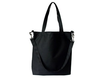 Black Minimalist Multipurpose Tote/ Oversized Versatile Big Bag/ Vegan Bag/ Laptop Bag/ Urban Bag/ Urban Tote/ Minimalist Bag