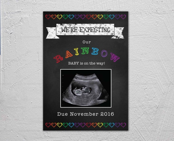 Rainbow Baby Pregnancy Announcement With Ultrasound