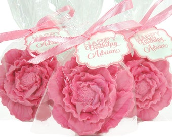 25 Peony Soap Favors -  Shower Favors - Beautiful Ruffled Layers Of Luxury