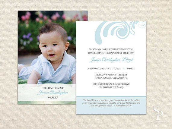diy baptism invitation Intoanysearchco