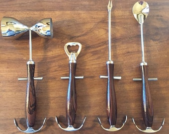 Boat Anchors/Nautical themed Bar Utensil Set - 4 pieces -