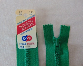 Zipper, shaped, emerald green, 25 cm (Z54 721)