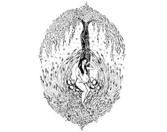 The Empress / Feminine Tarot Art / Expectant Mother / Solstice / Pregnancy Gift / Fertile Fertility Goddess / Mother Nature / Earth Goddess