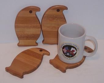 4 Piece Penguin Coaster Set