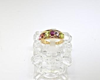 14k Birthstone Ring. Size 6.5