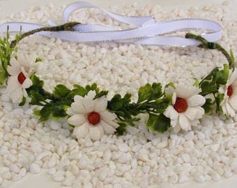White Floral Crown - Baby Floral Crowns, Communion Flower Crown, Baby Flower Crowns, White Flower Crowns, Flower Girl Crowns, Baby Crowns