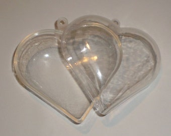 One 2 Piece HEART Shaped Mold - Bath Bombs - Ornaments