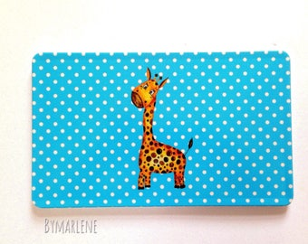 Breakfast Board giraffe blue