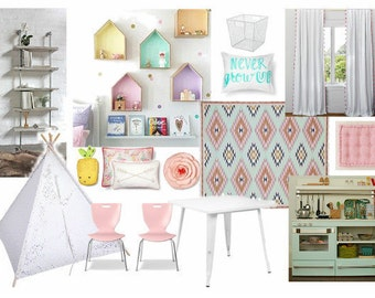 Playroom, Interior Design, E Design Services, Gift For Her, Room Finishes,
