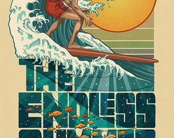 The Endless Summer - Underwater Scene - Venice Beach, CA (Art Prints available in multiple sizes)