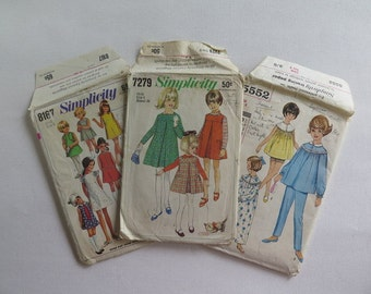 Vintage Sewing Patterns//Children's 60's Sewing Patterns//6 Year Old Girls Sewing Pattern