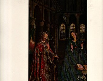 L'Annonciation, Jan Van Eyck + Vintage Art Print