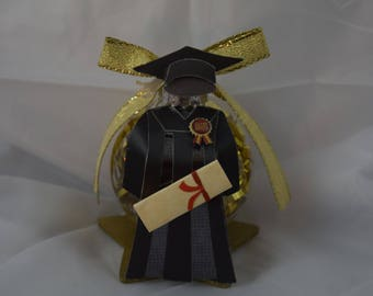 Graduation Cap and Gown Ornament