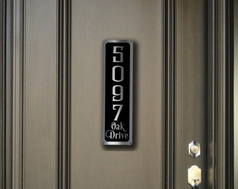 MODERN HOUSE NUMBERS Sign, Outdoor House Numbers, Address Plaque, Vertical House Numbers, Address Plaque, Address Plaque, Address Numbers