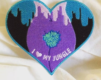 I Love My Jungle embroidered patch