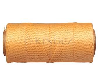 Jewelry Cord, Bracelet Strings, 15 meters/16 yards Macrame Cord, Waxed Polyester Thread - Pumpkin