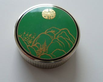 Silver powder box from Japan